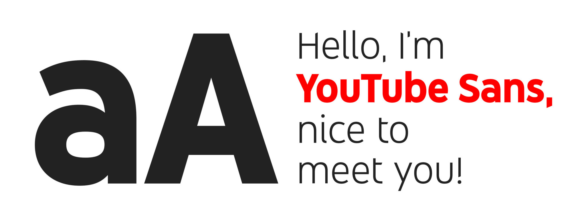 YouTube unveils first own-brand Font: YouTube Sans